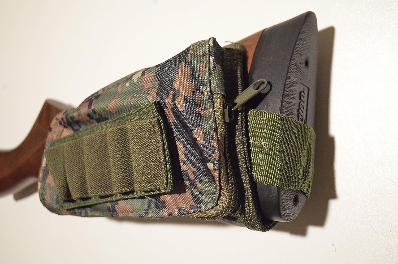 Buttstock Shotgun Fusil Shell Holder /& Cheek Rest Pochette-Woodland Camouflage