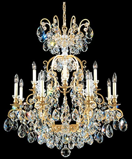 schonbek 3772 59sh renaissance 13 light chandelier in ferro black