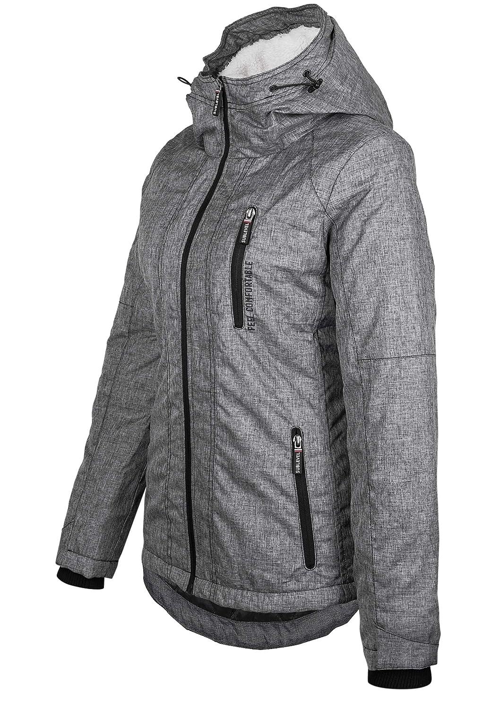Sublevel Damen /Übergangsjacke Winterjacke sportlich mit Kapuze
