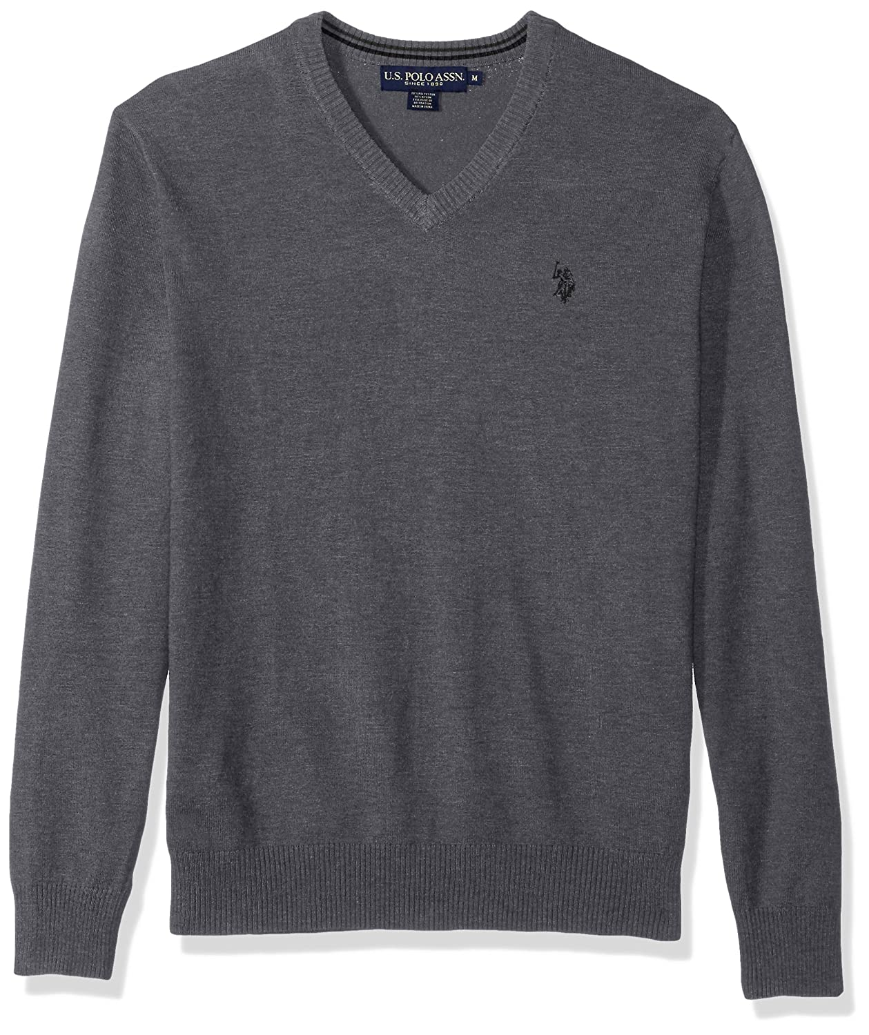 U.S. Polo Assn.. Men's Stretch Fabric Solid V-Neck Sweater ACUF7S5760