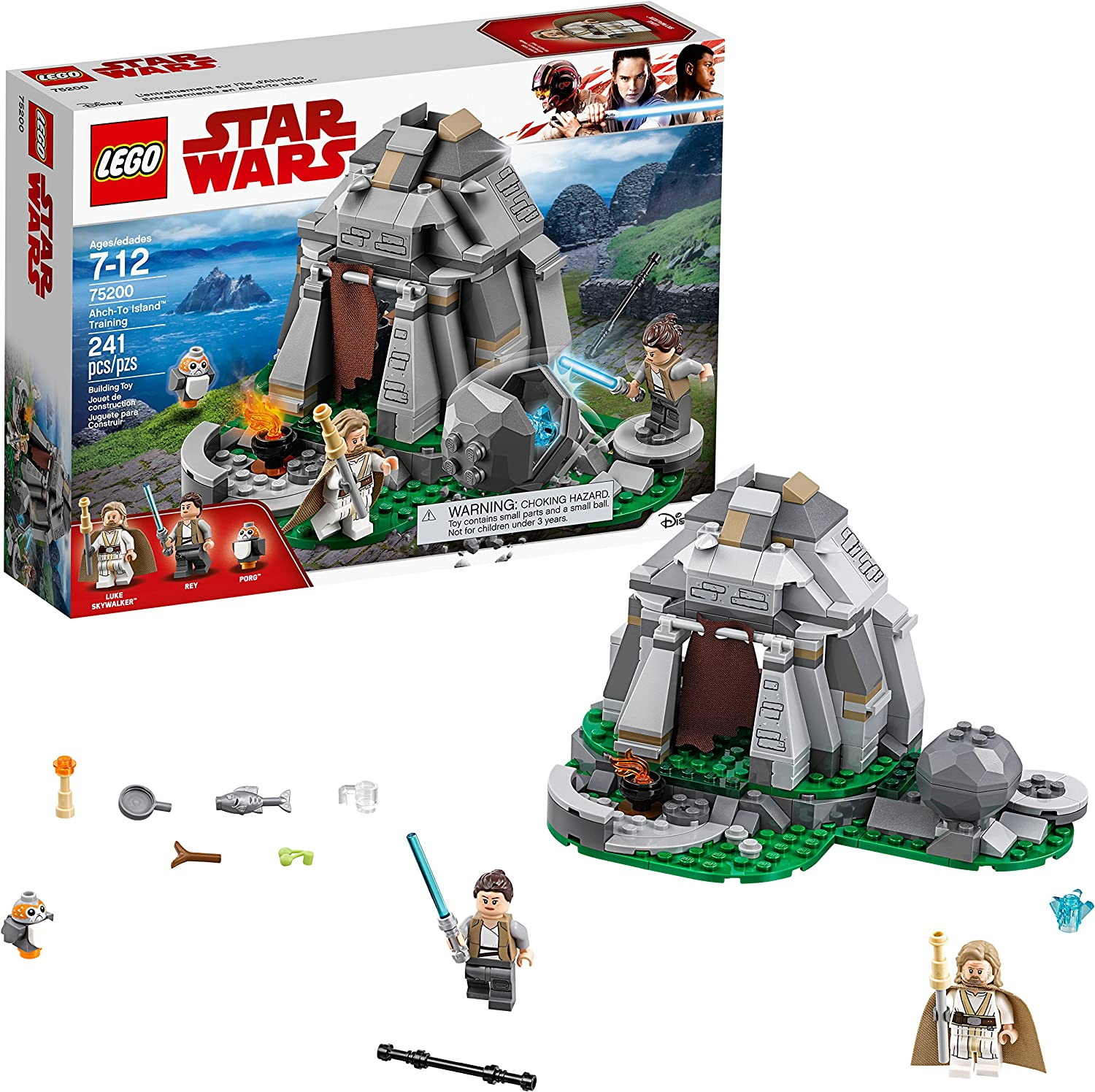 Amazon Com Lego Star Wars The Last Jedi Ahch To Island Training 75200 Building Kit 241 Pieces Discontinued By Manufacturer Toys Games