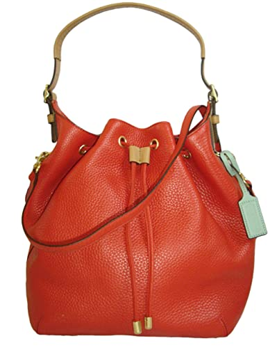 Coach Soft Pebbled Leather Drawstring Shoulder Bag 25306 ...
