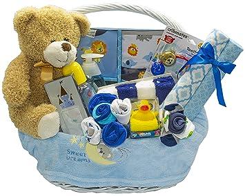 26fa78cb6e344 Amazon.com : Bundle of Joy Deluxe Baby Boy Gift Basket | New Baby Gift Set  : Baby