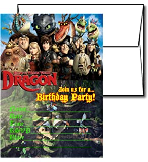 Amazon Com How To Train Your Dragon Party Invitations Kitchen Dining