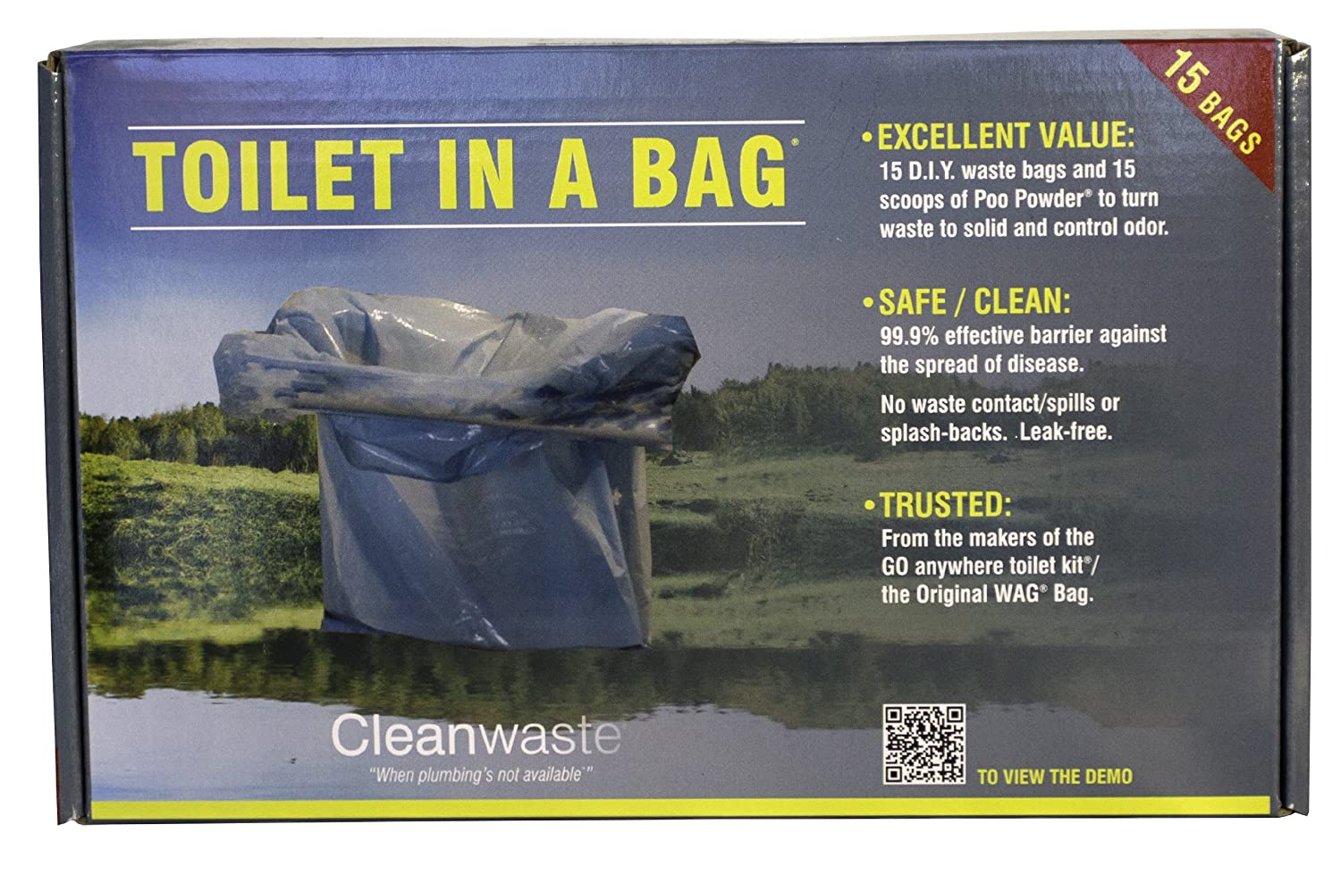 Cleanwaste Toilet in a Bag Toilet Kit, 15-Pack, Blue: Amazon.ca ...