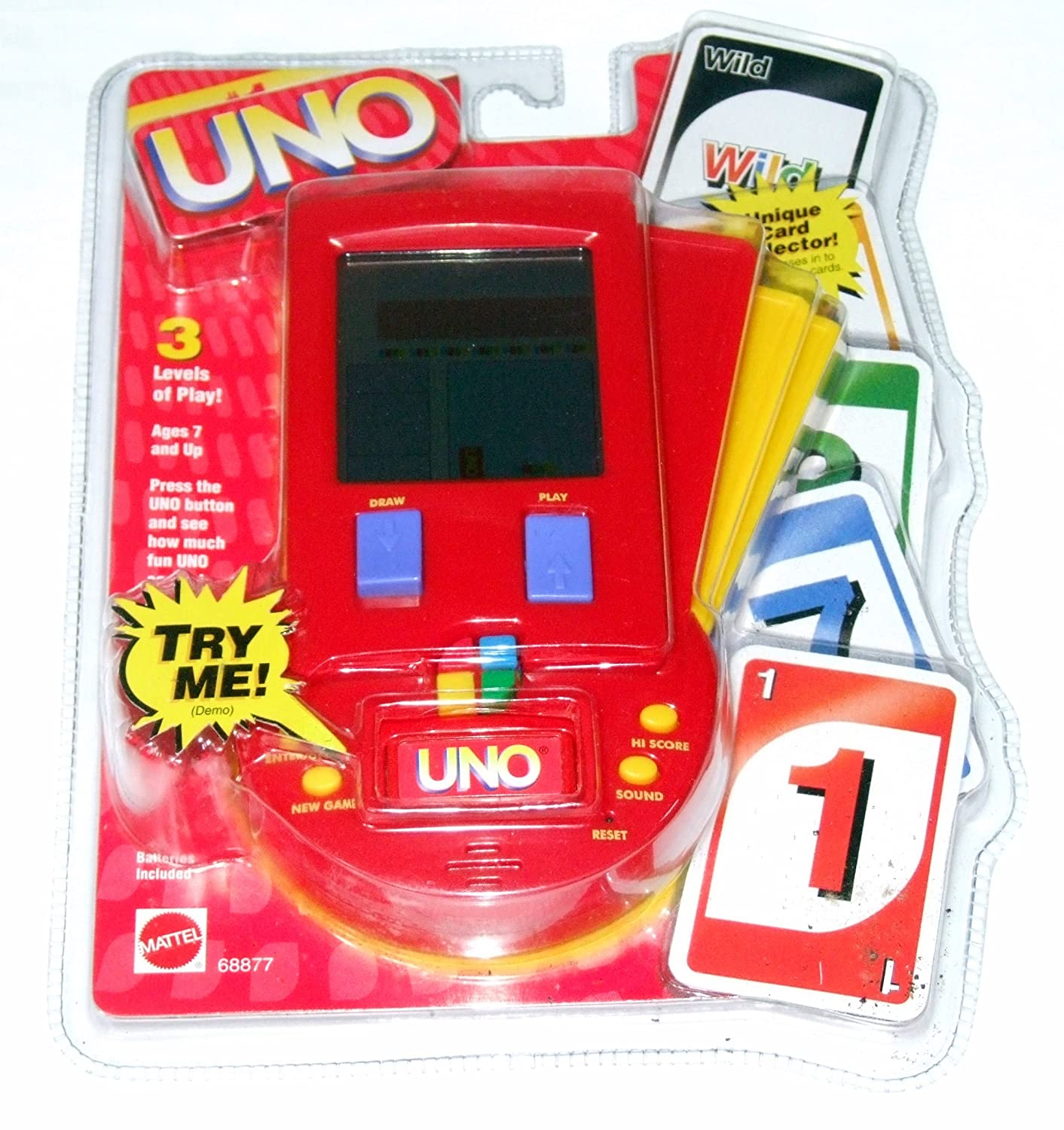 1999 Mattel, Inc  Uno LCD Handheld Game