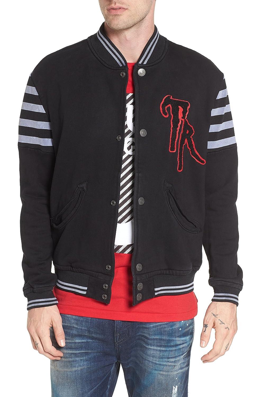[トゥルーレリジョン] メンズ ジャケットブルゾン True Religion Brand Jeans Collegiate Kni [並行輸入品] B07C3C56ZB Large