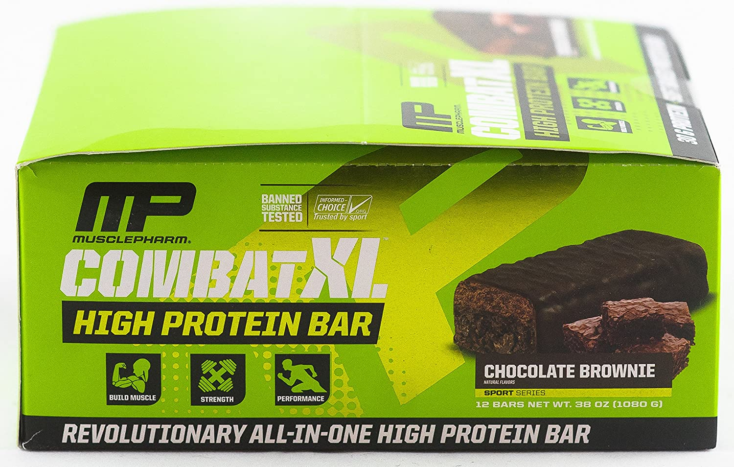 Buy MusclePharm Combat XL High Protein Bar Chocolate Brownie 12 Bars 38 Oz 1080 G Online At Low Prices In India