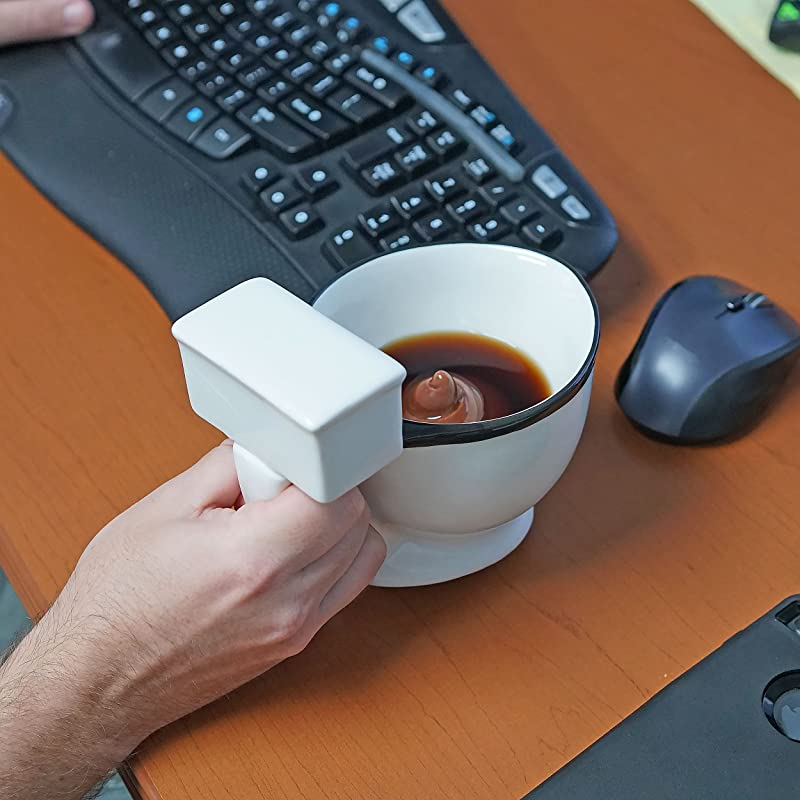 Ceramic Toilet Coffee Mug - Now With Hidden Poop