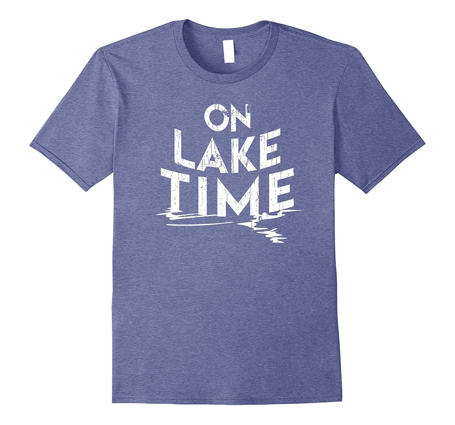 7944bdaf8 On Lake Time – Funny Summer Boating and Fishing T-Shirt-PL – Polozatee