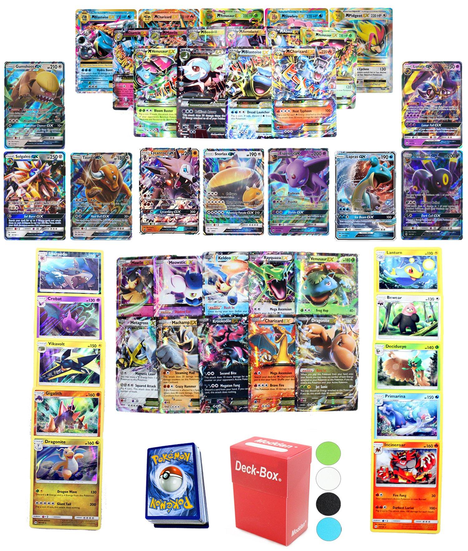 Amazon.com: 5 Total GX Pokemon Cards, Ex, Mega Ex, Or