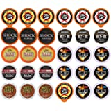 Extra Caffeine Extra Bold Coffee Single Serve Cups For Keurig K Cup Brewers 1.0 and 2.0 Variety Pack Sampler (30 Count)