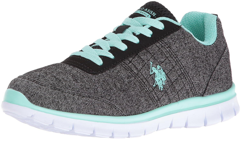 U.S. Polo Assn. Women's Women's Cece Fashion Sneaker B01I1BQ1FW 7.5 B(M) US|Black Heather Jersey/Mint