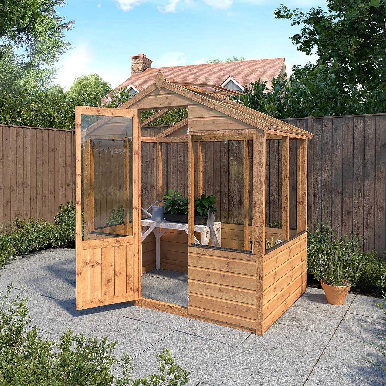 4 x 6 de madera invernadero y terrenos de#x2666; Hampton de casa ...