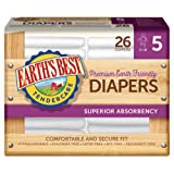 Amazon Price History for:Earth's Best Chlorine-Free Diapers, Size 5, 104 Count