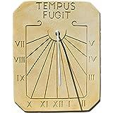 Cadran solaire en peirre reconstituée Tempus fugit