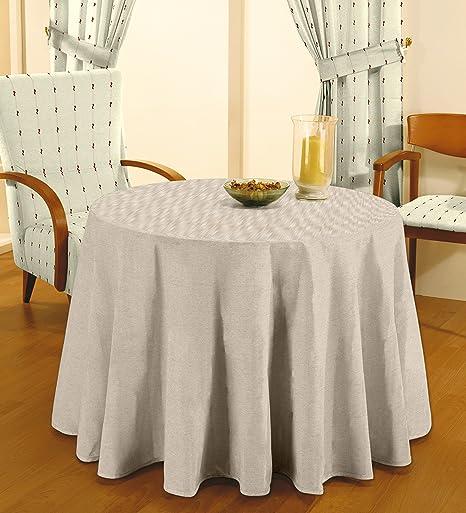 Cardenal - Falda de Mesa Camilla 90 Lisa Lino: Amazon.es: Hogar