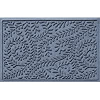 Bungalow Flooring Waterhog Doormat, 2' x 3' Made in USA, Durable and Decorative Floor Covering, Skid Resistant, Indoor/Outdoor, Water-Trapping, Boxwood Collection, Bluestone