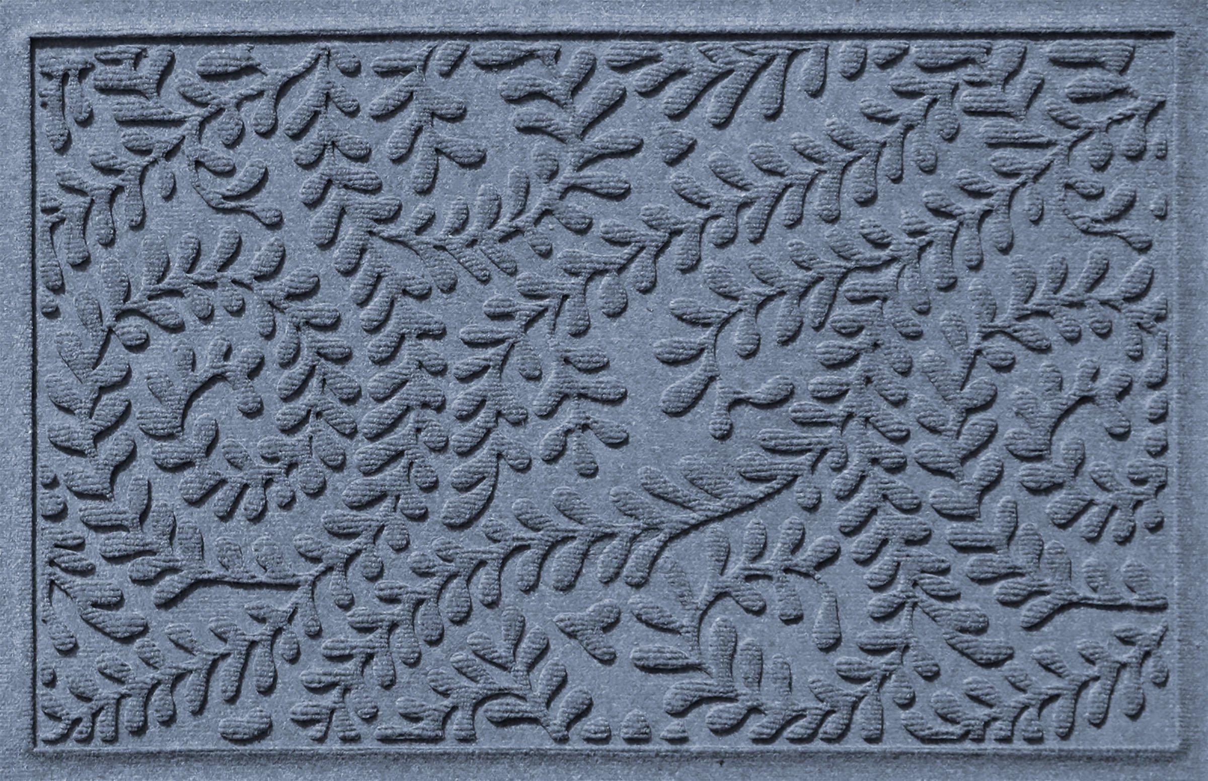 Bungalow Flooring Waterhog Doormat, 2' x 3', Skid Resistant, Easy to Clean, Catches Water and Debris, Boxwood Collection, Bluestone