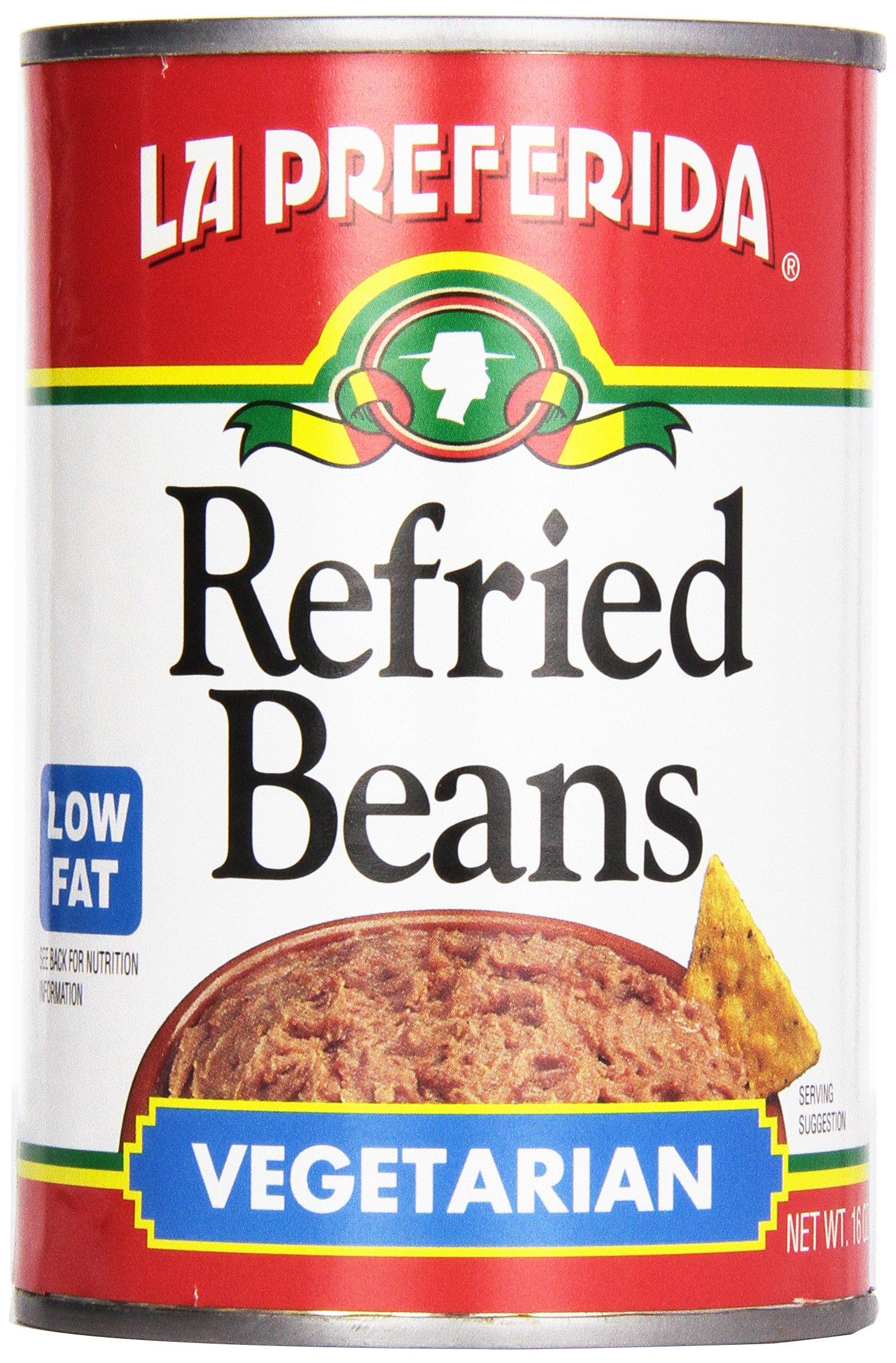 La Preferida Refried Beans, Vegetarian and Low Fat, 16 oz