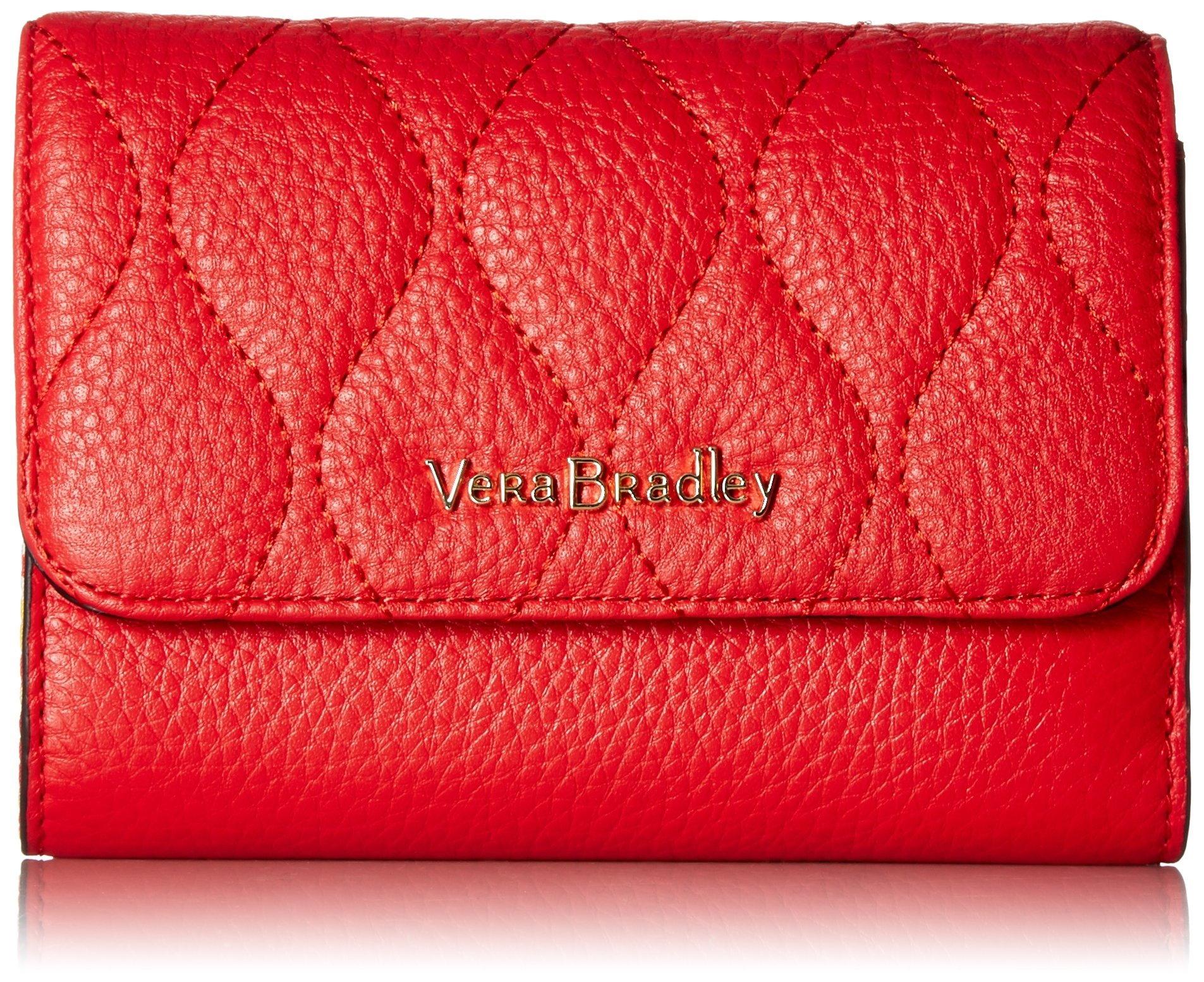 Vera Bradley Riley Compact Wallet, Leather, Canyon Sunset