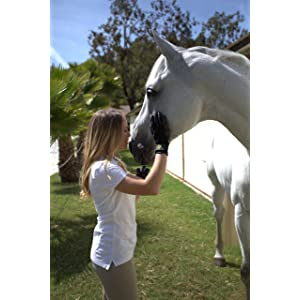 HandsOn Bathing/Grooming/Shedding Gloves, De-Shedding Gloves for Horses/Dogs/Cats/Livestock/Small Pets