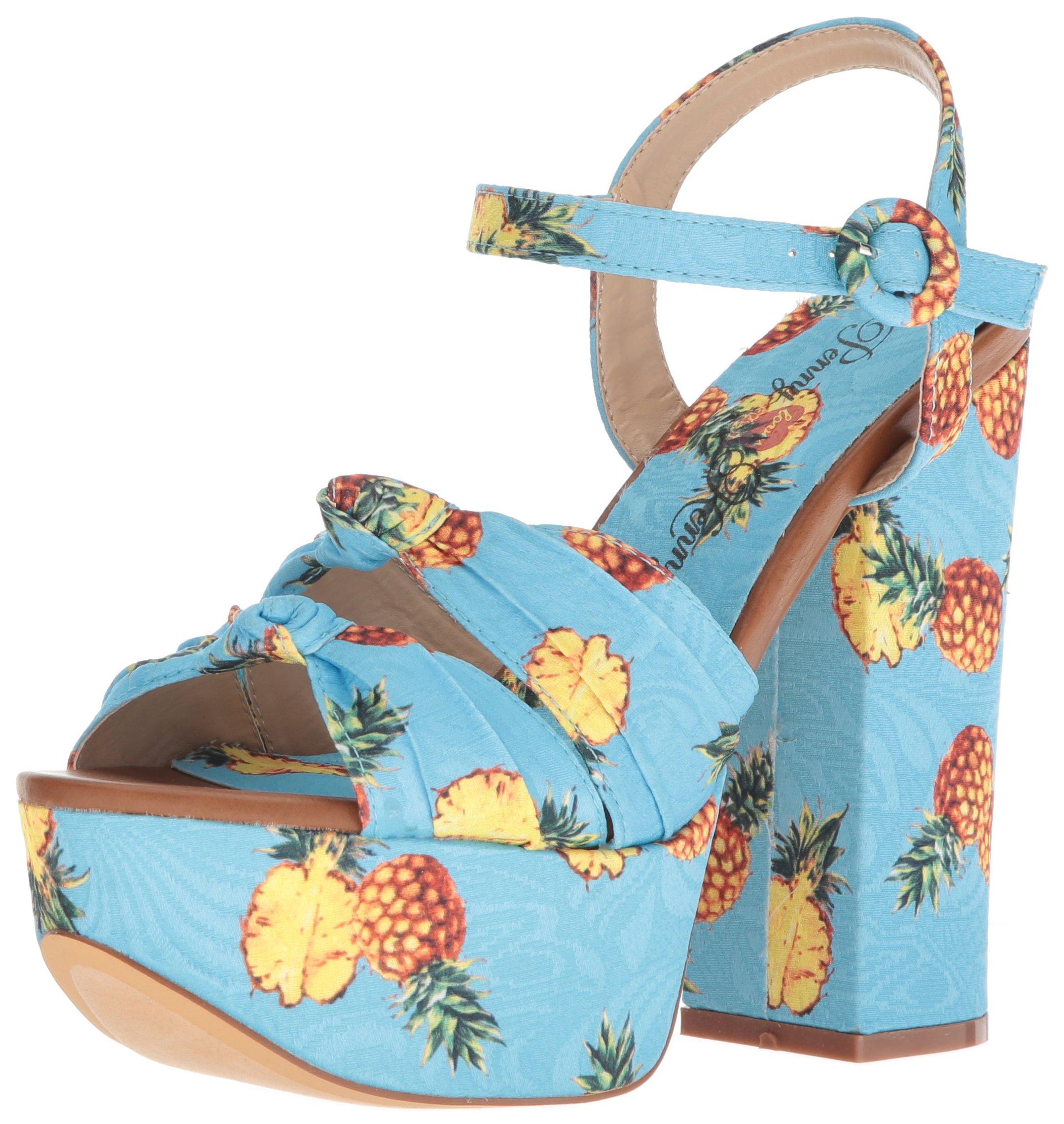 Penny Loves Kenny Women's Scat Platform, Blue Pineapple, 6.5 Medium US