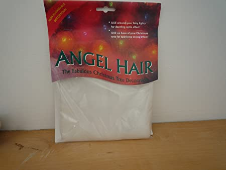 non flammable angel hair christmas tree decoration - Angel Hair Christmas Decoration