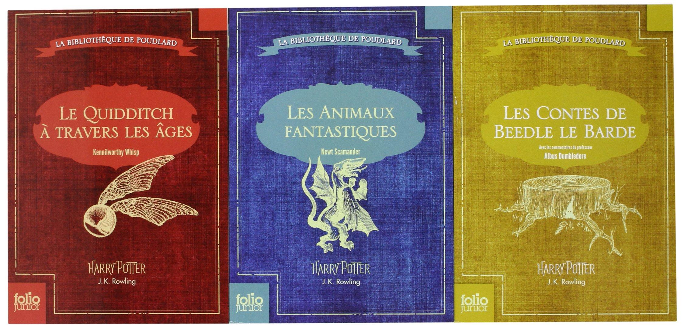 Amazon Fr Coffret La Bibliotheque De Poudlard Le