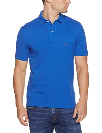 adcb3904d Tommy Hilfiger Men s New Knit Short Sleeve Polo Shirt  Amazon.com.au ...