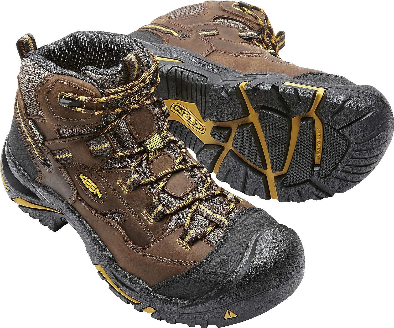 Mens Braddock Mid Waterproof Work Boot Soft Toe KEEN Utility