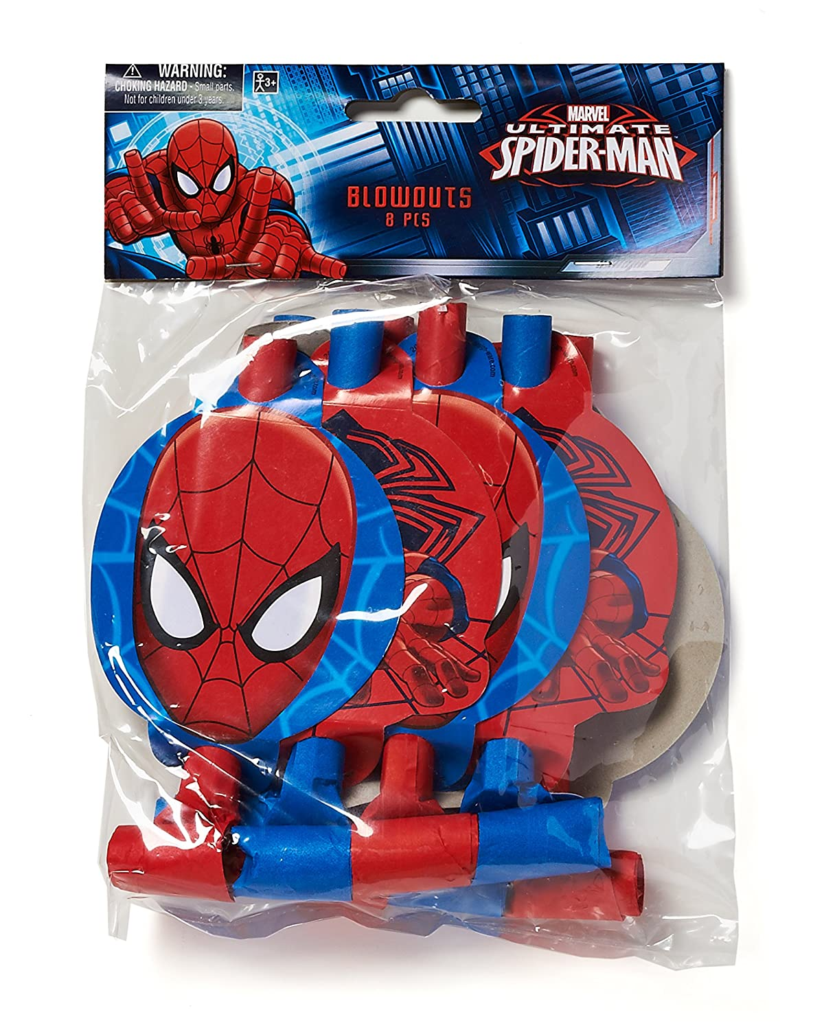 Toys AM-331355 Party Supplies American Greetings Spider-Man Party Blowers Pack of 8