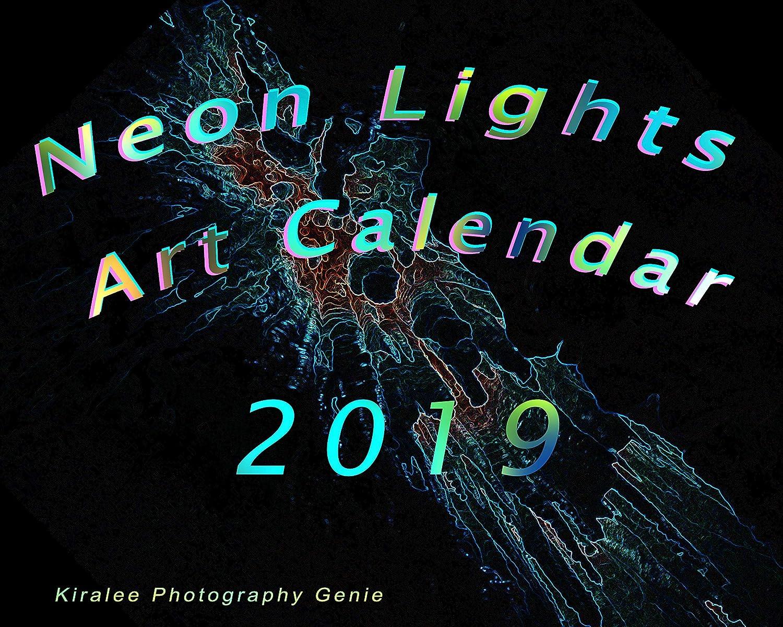 Neon Lights Art Calendar a Kiralee original design