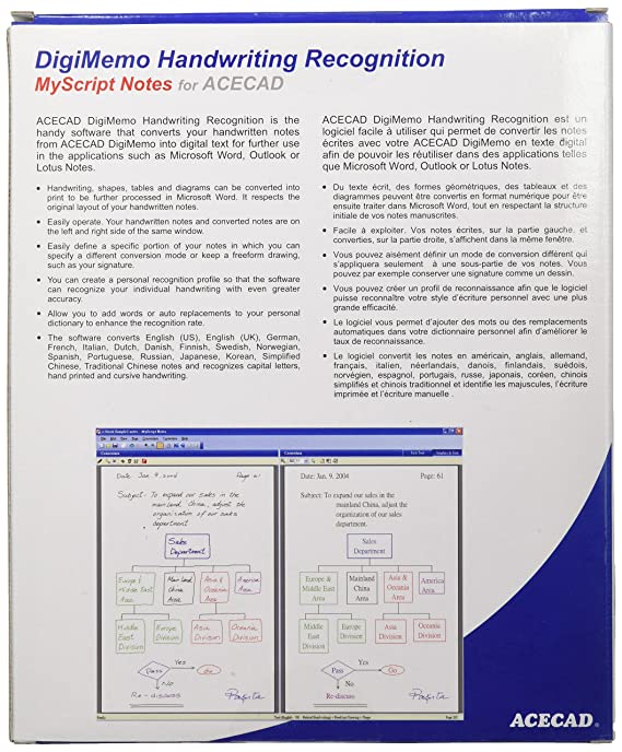 DigiMemo Handwriting Recognition Software