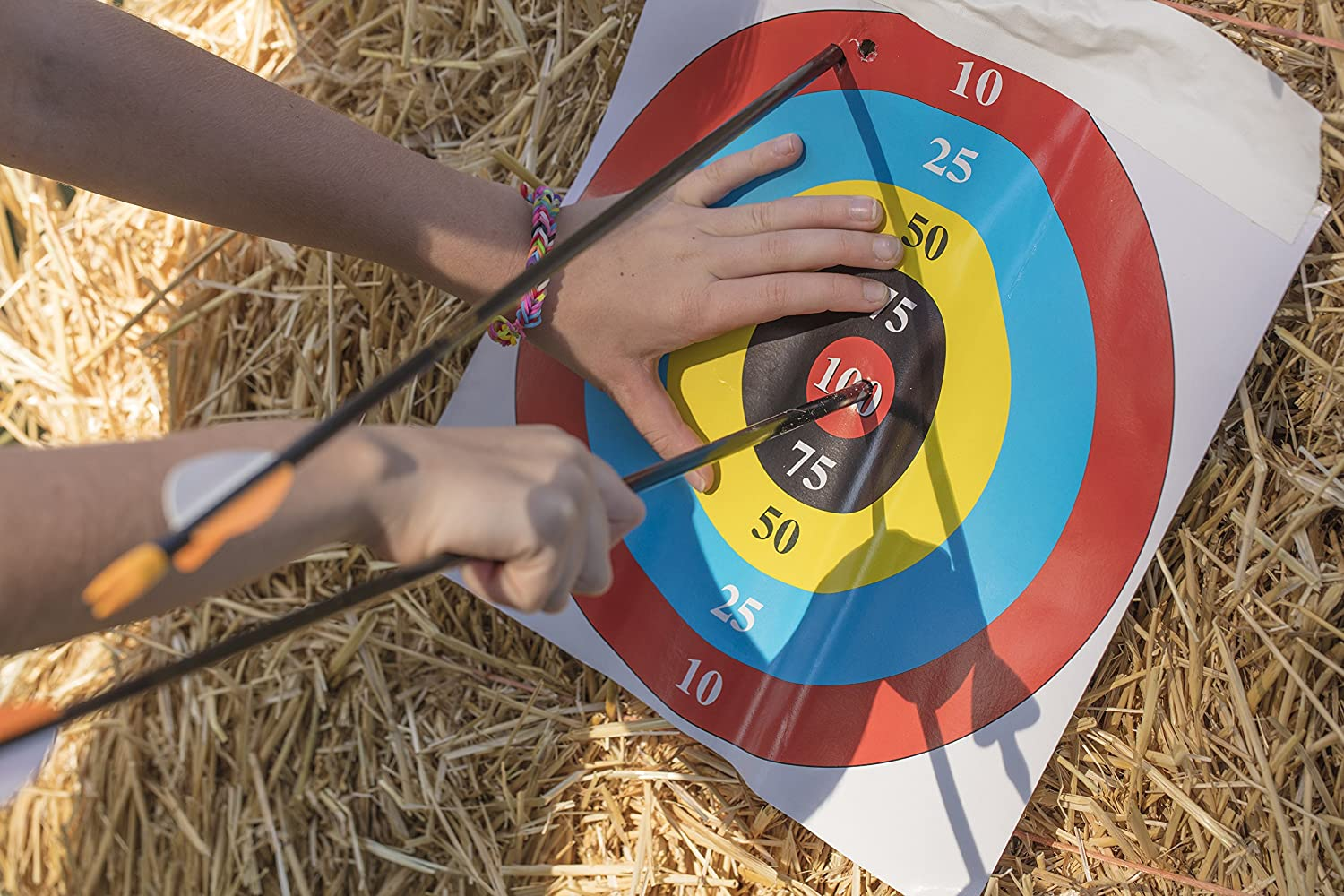 24 of Each Size Bear Archery Youth Safetyglass Arrows