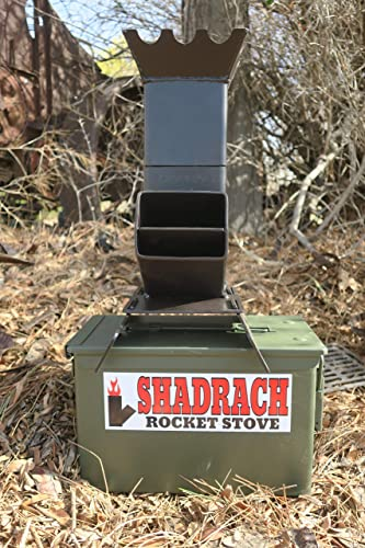 Shadrach Rocket Stove and 50cal M2A1 Ammo Can for Portable Storage