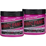 Manic Panic Cotton Candy Pink Hair Dye - Classic High Voltage - (2PK) Semi Permanent Hair Color - Glows in Blacklight…