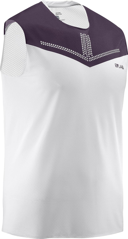 Camiseta Salomon S//Lab Sense Tank M White//Maverick Hombre Blanco