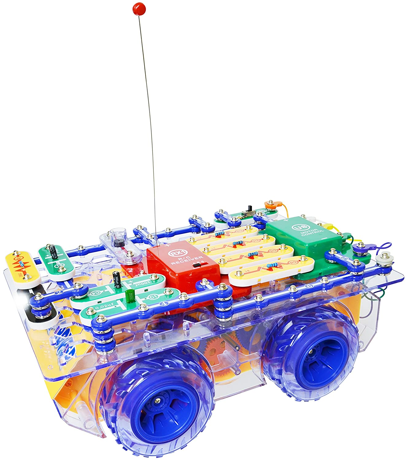 Snap Circuits R C Rover Electronics Exploration Kit Elenco Pro Sc500 Discovery Science 23 Fun Stem Projects 4 Color Project Manual 30 Modules Unlimited