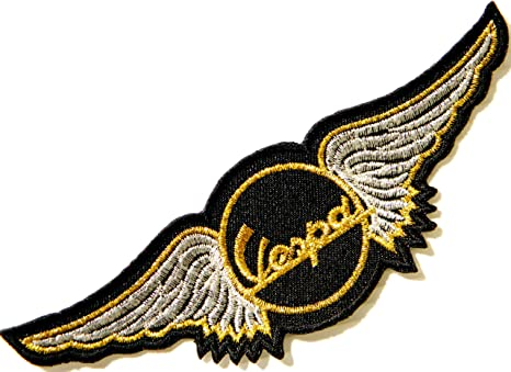 Vespa biker art badge Embroidered Iron or sew on Patch