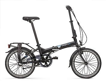 Bicicleta Plegable Popal Reload 20 Pulgadas Marco de Aluminio Cambio 3 Velocidades Negro Mate