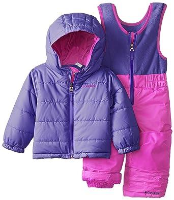 57c428328 Amazon.com: Columbia Baby Girls' Double Flake Reversible Bib and Jacket  Set: Clothing