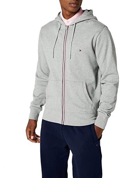 72444c89a43a66 Tommy Hilfiger Men's Core Cotton Zip Hoodie Cardigan: Amazon.co.uk: Clothing