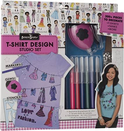 Amazon Com Fashion Angels Graphic T Shirt Design Kit Toys Games