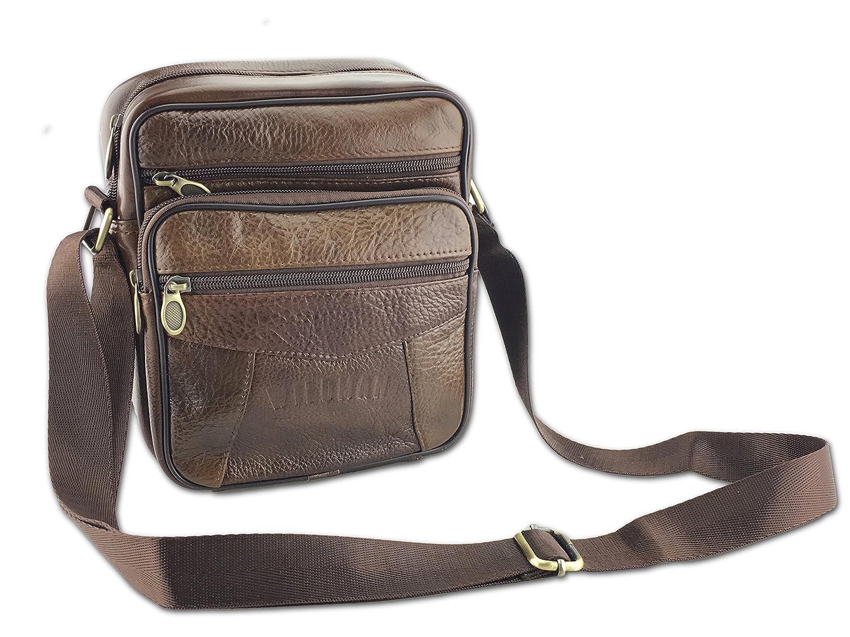 bb2021bb4d WildmanTM Mens Leather Shoulder Bag - Messenger Bag
