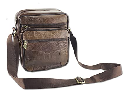 bb2021bb4d WildmanTM Mens Leather Shoulder Bag - Messenger Bag
