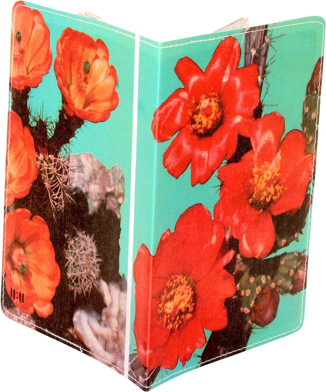 Cactus Flower Travel Passport Holder PP-1771A