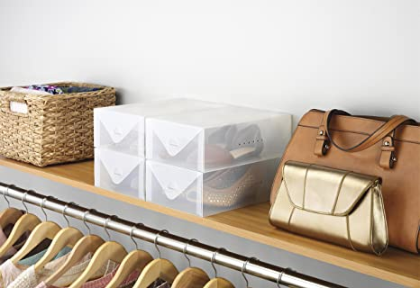 Whitmor 透明鞋盒4件套