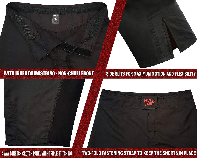 BRUTUL FIGHT Kids MMA Mixed Martial Art Shorts BJJ Training Muay Thai: Clothing