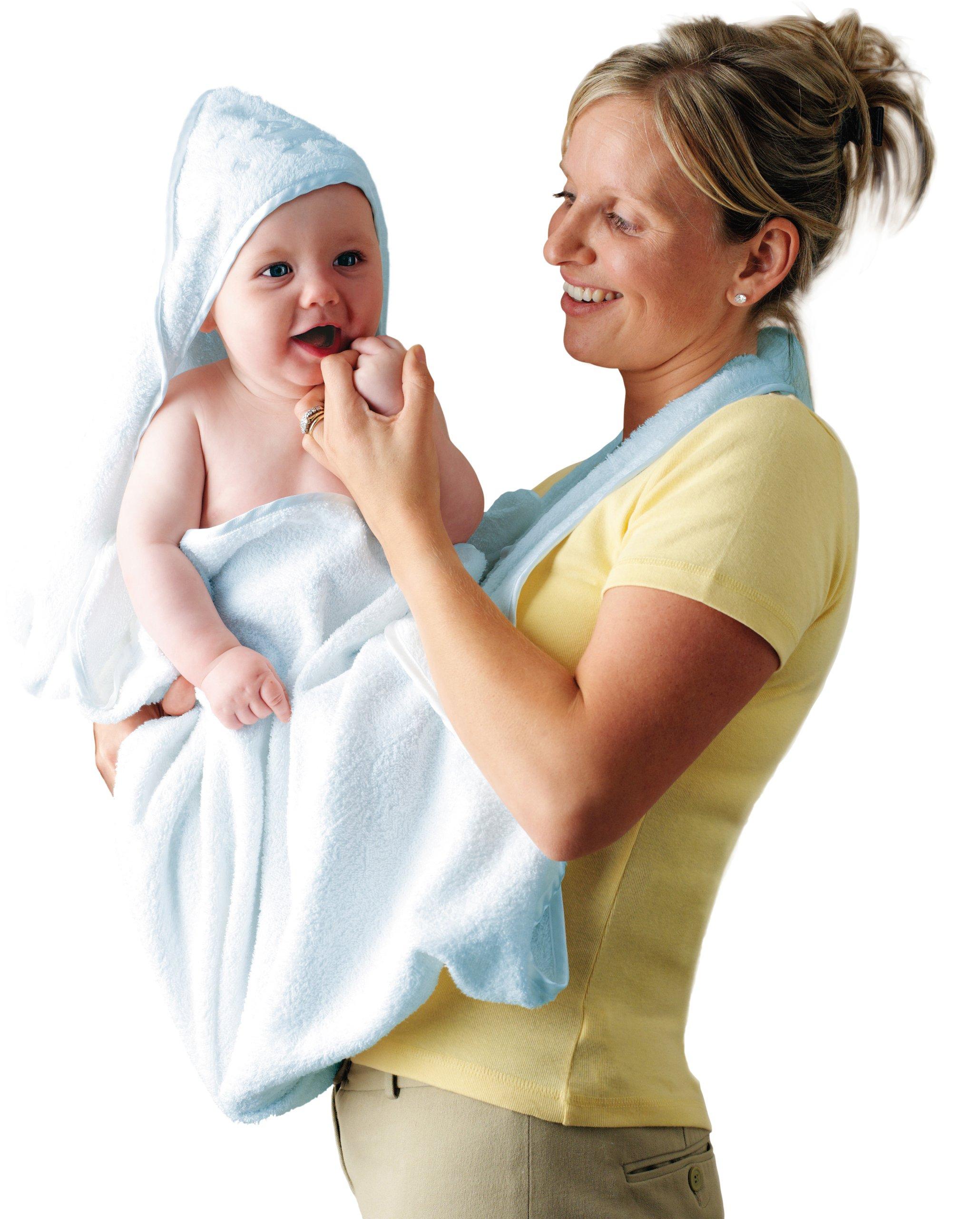 Clevamama Toalla Bebé con Capucha - Capa de Baño Infantil - Azul product image